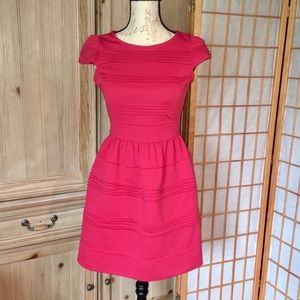 Elle Red Cap Sleeve Dress Size 2